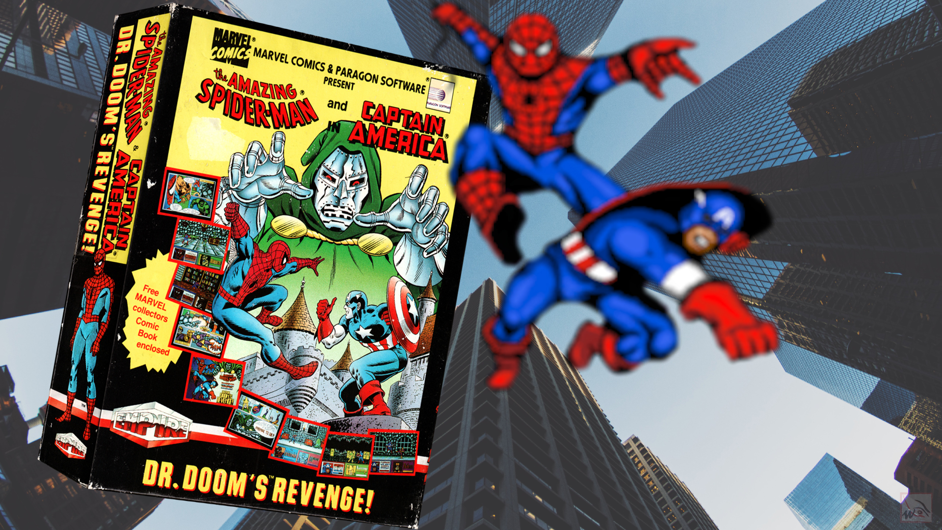 """""""Spider-Man and Captain America in Doctor Doom's Revenge"""" from Paragon Software"""