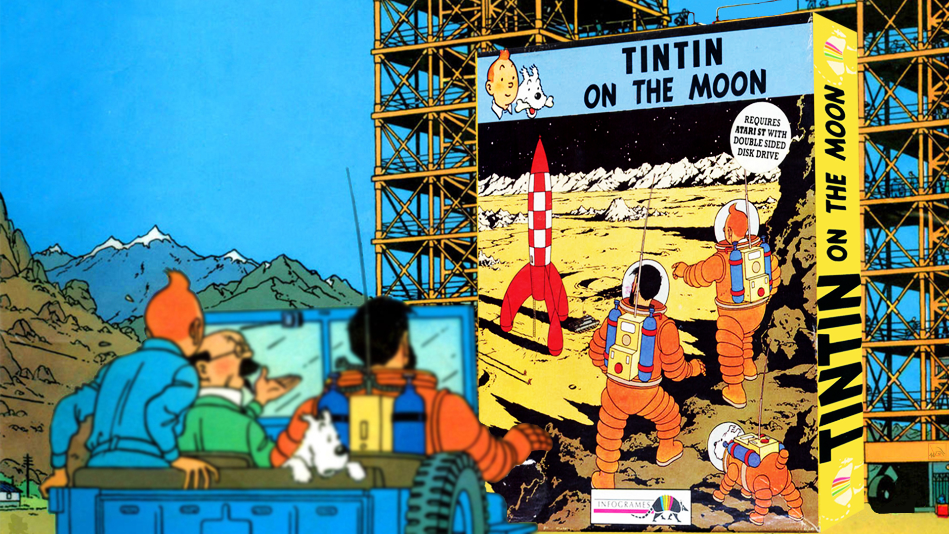 """""""Tintin on the Moon"""" from Infogrames"""
