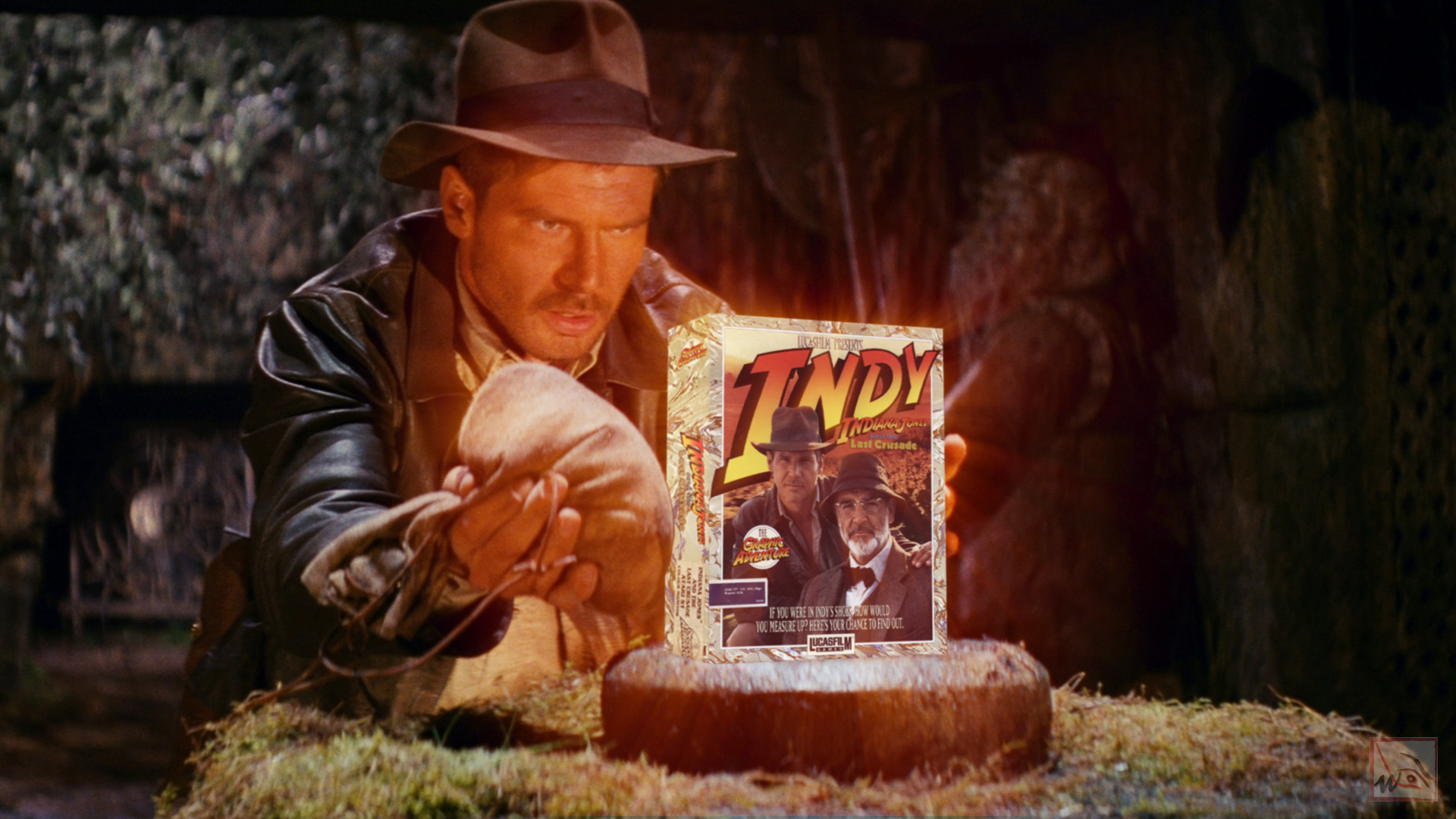 """""""Indiana Jones and the Last Crusade - The Graphic Adventure"""" from Lucasfilm Games"""