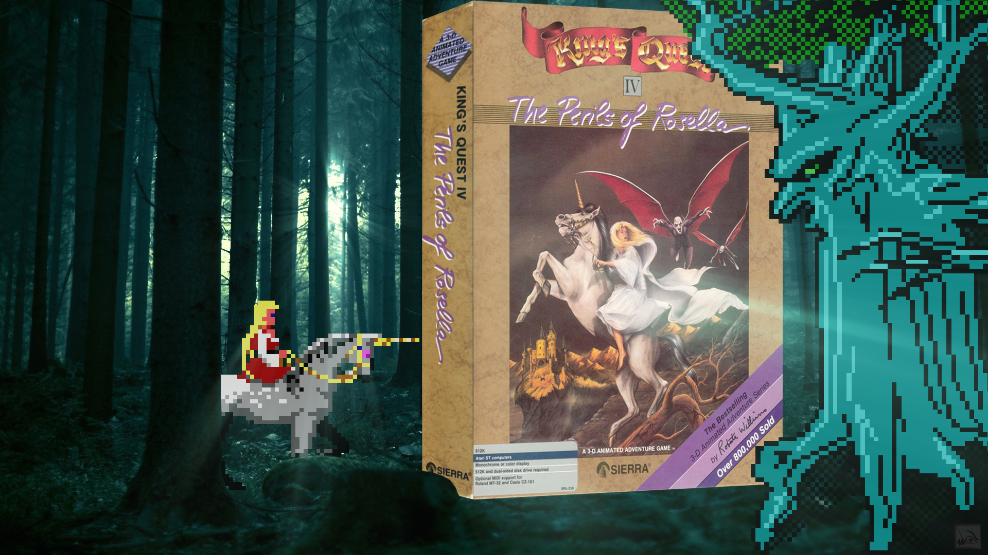 """""""King's Quest IV"""" from Sierra-On-Line"""